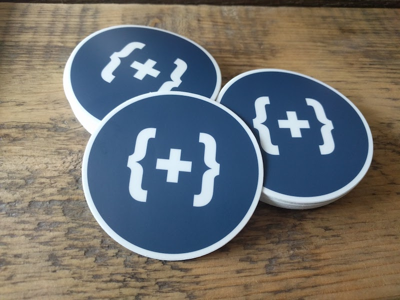 round logo mark sticker